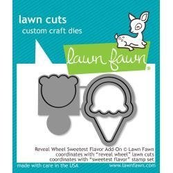 Troqueles para Reveal Wheel Lawn Fawn Sweetest Flavor Add-On