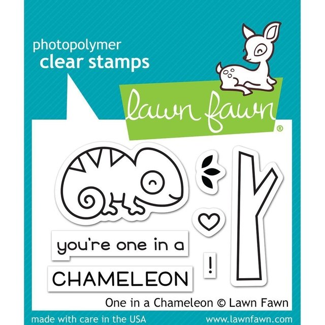 Kit de Troqueles y Sellos One In A Chameleon Lawn Fawn