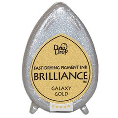 Almohadilla de Tinta Dew Drop Brilliance Tsukineko Galaxy Gold