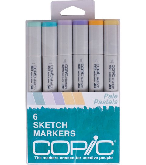CAJA 6 MARCADORES COPIC SKETCH, PALE PASTELS