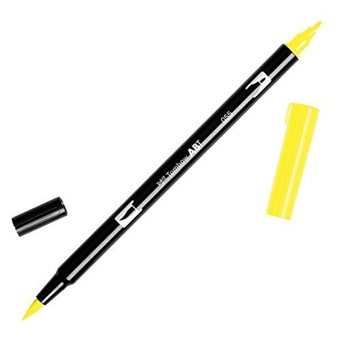 Rotulador punta pincel Tombow Dual Brush 055 Process Yellow - comprar online