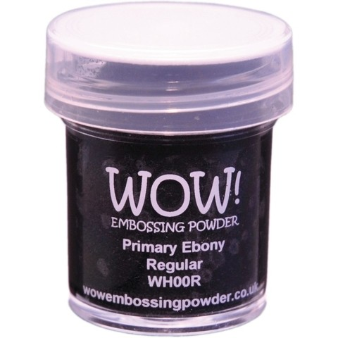 Polvo para embossing Primary Ebony Regular Wow!