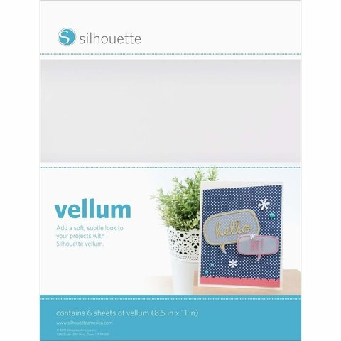 Papel tipo vegetal Vellum Silhouette x 6 hojas