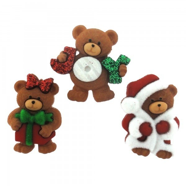 Botones decorativos Dress it Up A Beary Merry Christmas - comprar online