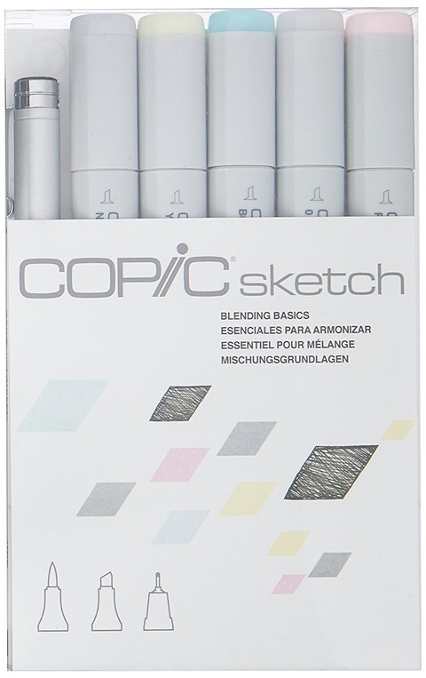 CAJA 6 MARCADORES COPIC SKETCH, BLENDING BASICS - comprar online