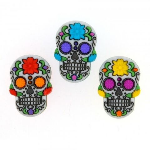 Botones decorativos Day of the Dead Dress it Up - comprar online