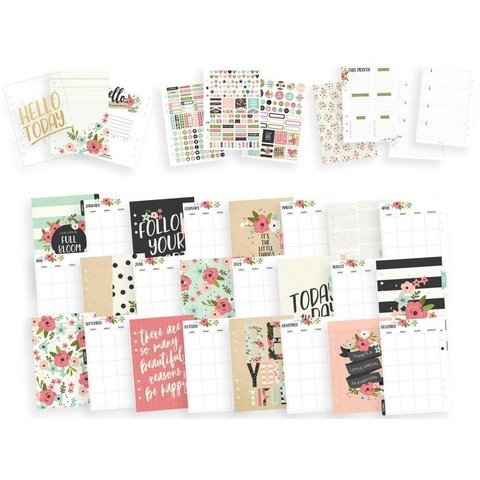 Traveler Notebook Carpe Diem 12,7x20,95 cm Color Cream Blossom - comprar online