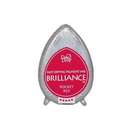 Almohadilla de Tinta Dew Drop Brilliance Tsukineko Rocket Red