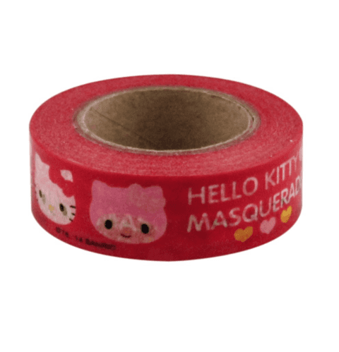 Cinta Decorativa Washi Tape Hello Kitty & My Melody Masquerade en internet