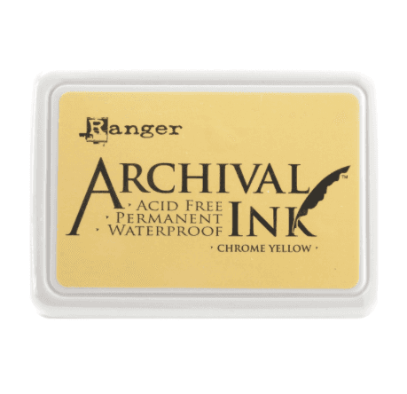 Almohadilla de Tinta Ranger Archival Ink Color Chrome Yellow