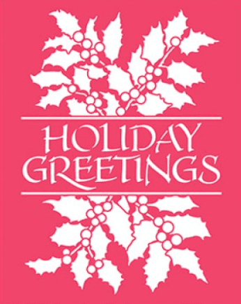 Carpeta Texturizadora Embossing Holliday Greetings & Holly Dreamweaver   - comprar online