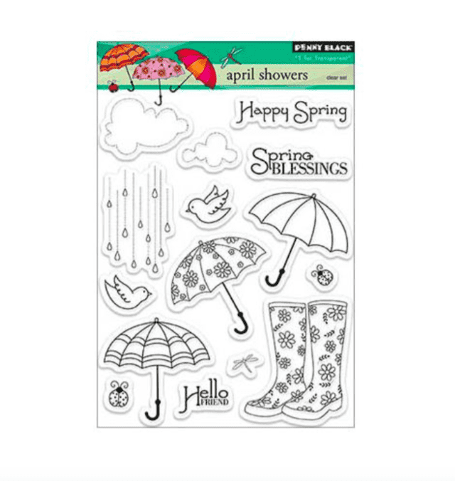 Sellos April Showers Clear Stamp Penny Black