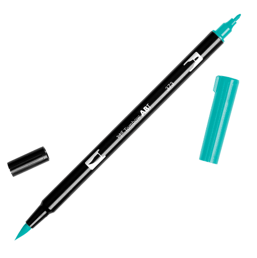 Rotulador punta pincel Tombow Dual Brush 373 Sea Blue