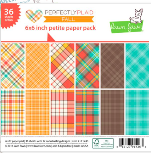 Block Papel Para Scrap 15 x 15 Perfectly Plaid Fall Lawn Fawn - comprar online
