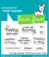 Sello de Etiquetas Tiny Tags Sayings Birthday Lawn Fawn - comprar online