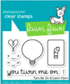 Kit de sellos y troqueles Turn Me On Lawn Fawn - comprar online
