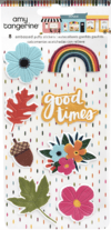 Plancha 8 Stickers con relieve texturizados SLICE OF LIFE amy tangerine American Crafts
