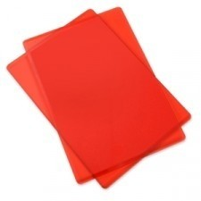 BASE DE CORTE SIMPLE  PARA SIZZIX BIG SHOT COLOR ROJO CON BRILLOS 22 cm x 15,55 cm - comprar online