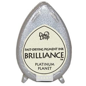 Almohadilla de Tinta Dew Drop Brilliance Tsukineko Platinum Planet