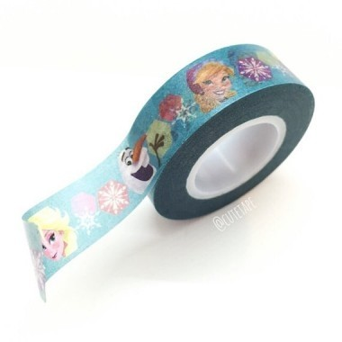 Cinta Decorativa Washi Tape Frozen Elsa & Anna