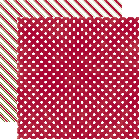 Papel bi-faz Sleigh Ride Medium Dot 30,5 x 30,5 cm de 180 gr