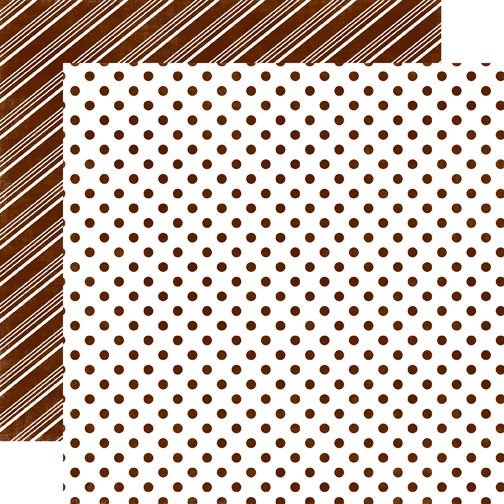 Papel bi-faz Gingerbread Medium Dot 30,5 x 30,5 cm de 180 gr