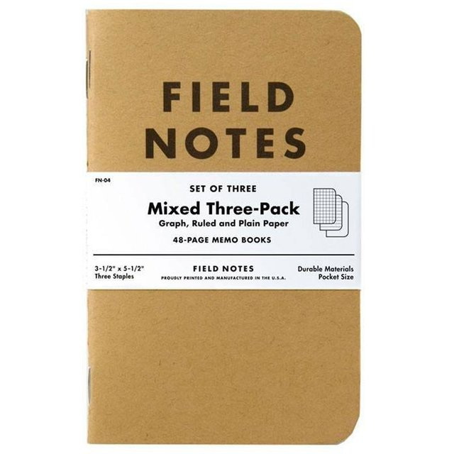 Pack de 3 Mini Cuadernos de 48 paginas Mixtas Field Notes