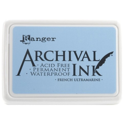 Almohadilla de Tinta Ranger Archival Ink Color French Ultramarine - comprar online