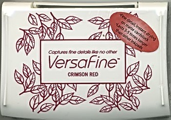 Almohadilla grande de Tinta Versafine color Crimson Red