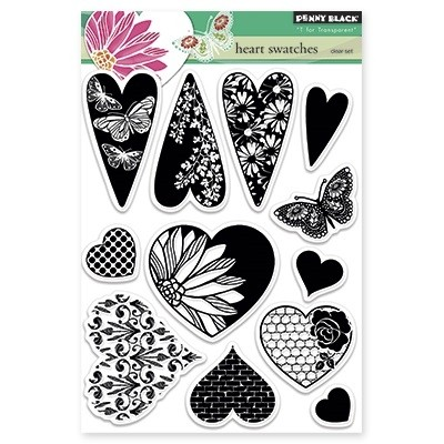 Sellos de Heart Swatches Clear Stamp Penny Black - comprar online