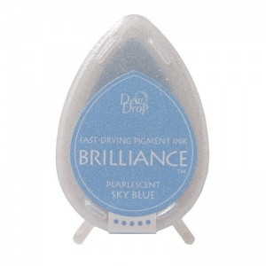 Almohadilla de Tinta Dew Drop Brilliance Tsukineko Sky Blue