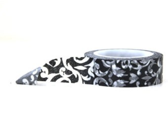 Cinta Decorativa Washi Tape Black Damask - comprar online