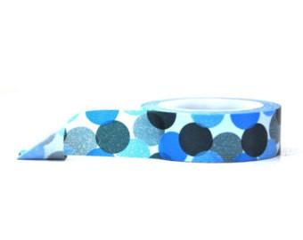 Cinta Decorativa Washi Tape Blue Bubbles