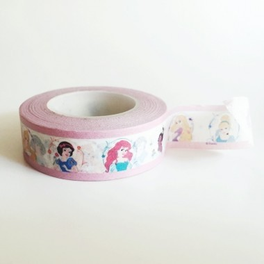 Cinta Decorativa Washi Tape Princesas Disney en internet