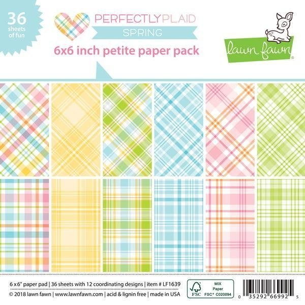 Block Papel Para Scrap 15 x 15 Perfectly Plaid Spring Lawn Fawn - comprar online