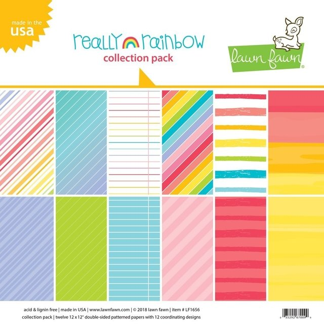 Block Papel Para Scrap 30 x 30 Really Rainbow Lawn Fawn - comprar online