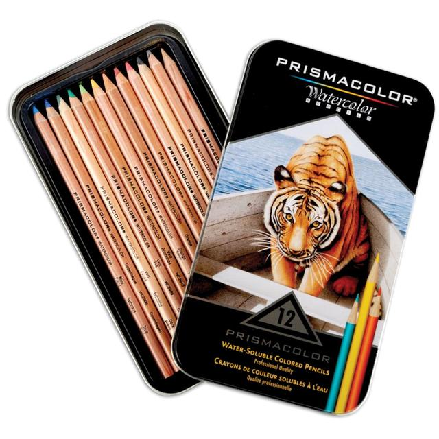 LAPICES PRISMACOLOR ACUARELABLES PREMIER LATA DE 12 COLORES