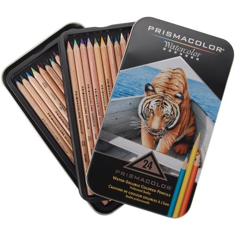 LAPICES PRISMACOLOR ACUARELABLES PREMIER LATA DE 24 COLORES