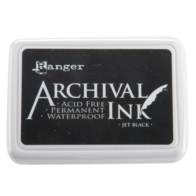 Almohadilla de Tinta Ranger Archival Ink Color Jet Black
