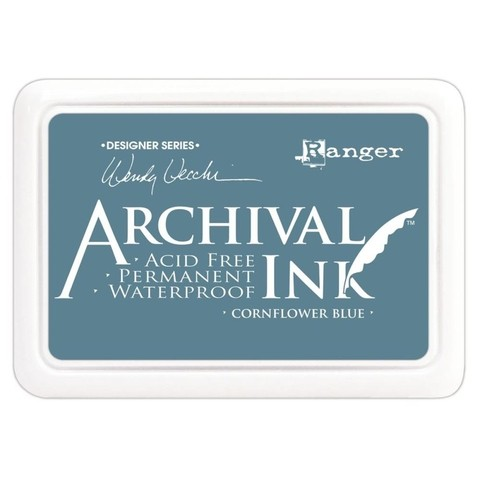 Almohadilla de Tinta Ranger Archival Ink Color Cornflower Blue