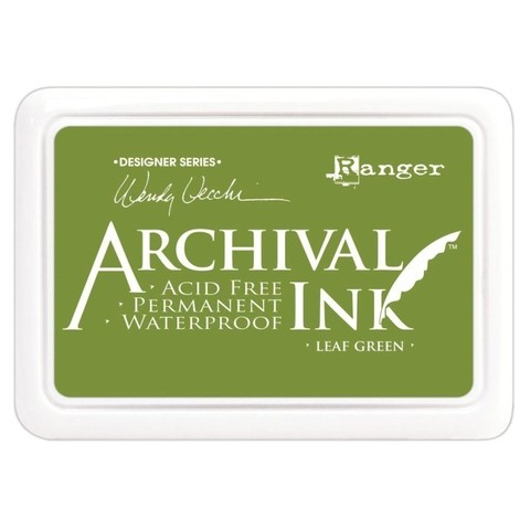 Almohadilla de Tinta Ranger Archival Ink Color Leaf Green
