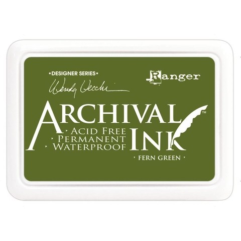 Almohadilla de Tinta Ranger Archival Ink Color Fern Green