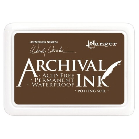 Almohadilla de Tinta Ranger Archival Ink Color Potting Soil