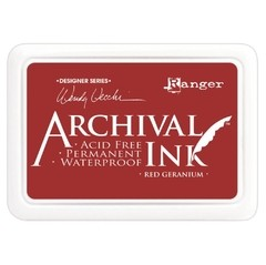 Almohadilla de Tinta Ranger Archival Ink Color Red Geranium