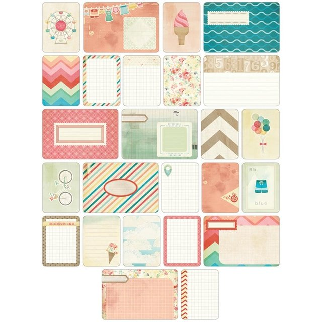 KIT DE 60 TARJETAS PARA PROJECT LIFE BECKY HIGGINS SUMMER