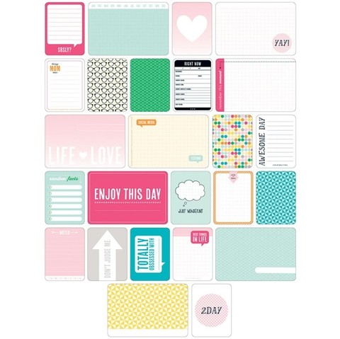 KIT DE 60 TARJETAS PARA PROJECT LIFE BECKY HIGGINS TEEN GIRL - comprar online