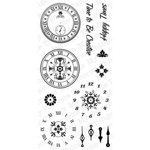 Sello Relojes Timeless My Favorite Things Clear Stamps  - comprar online