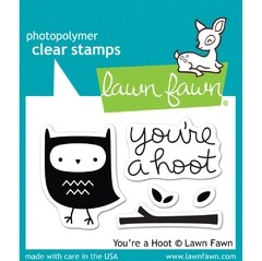 Kit de Troqueladora y Sello You 're a Hoot Clear Stamp Lawn Fawn 7.5 cm x 5 cm - comprar online