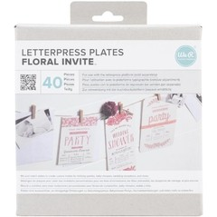 Placa de impresión Lifestyle Floral Invite We R Memory Keepers - comprar online