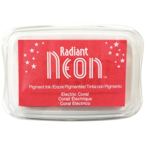 Almohadilla de Tinta Radiant Neon Color Electric Coral
